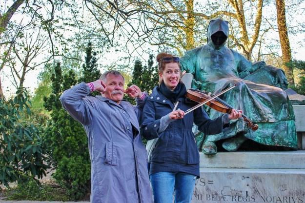 Violin Lessons, City Park, Budapest, Hungary