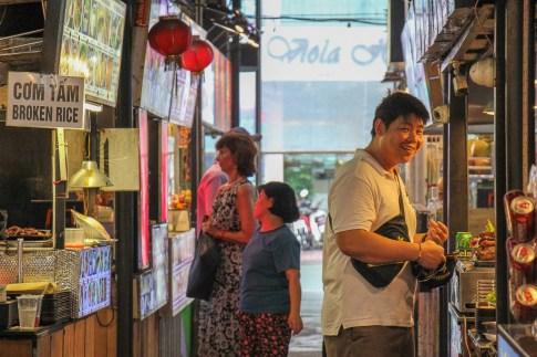Happy Customer, Ben Thanh Food Market, Saigon, HCMC, Vietnam
