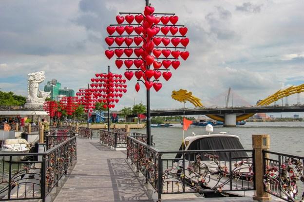 Love Bridge in Da Nang, Vietnam