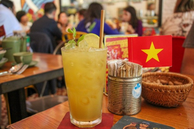 Fresh Juice, Propaganda Restaurant, Saigon, HCMC, Vietnam
