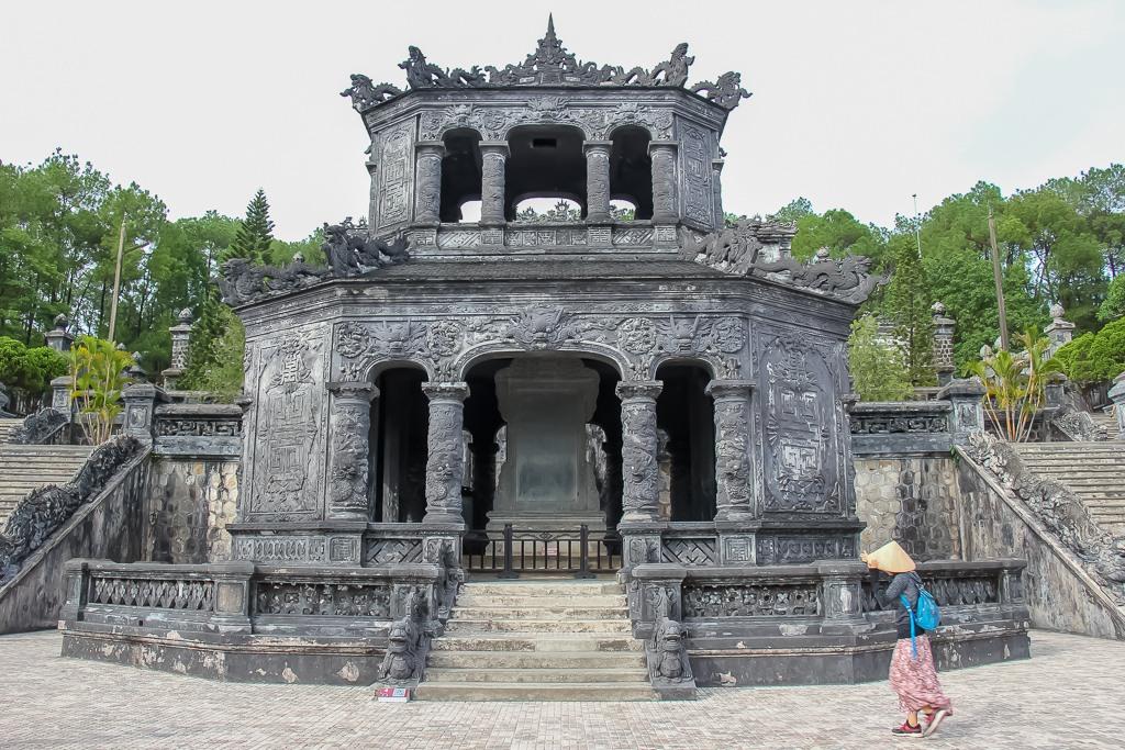 Entrance to the Royal Tomb of Khai Dinh King, Hue, Vietnam