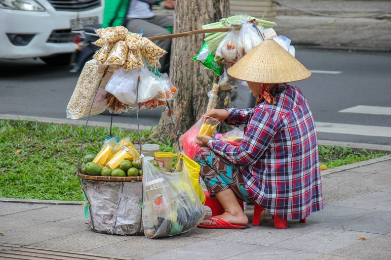 Fruit Vendor, Saigon, HCMC, Vietnam