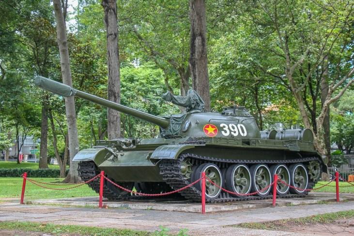 Famous Tank 390 at Independence Palace, Saigon, HCMC, Vietnam