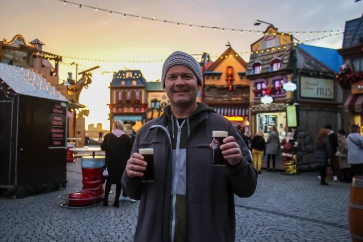 Alt Beer at the Christmas Market, Dusseldorf, Germany
