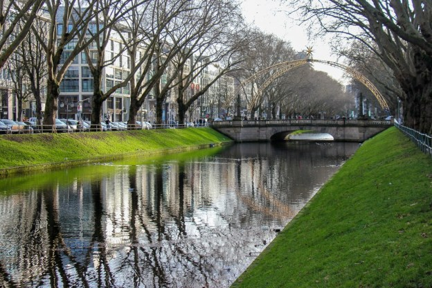 Stadtgraben canal, Dusseldorf, Germany