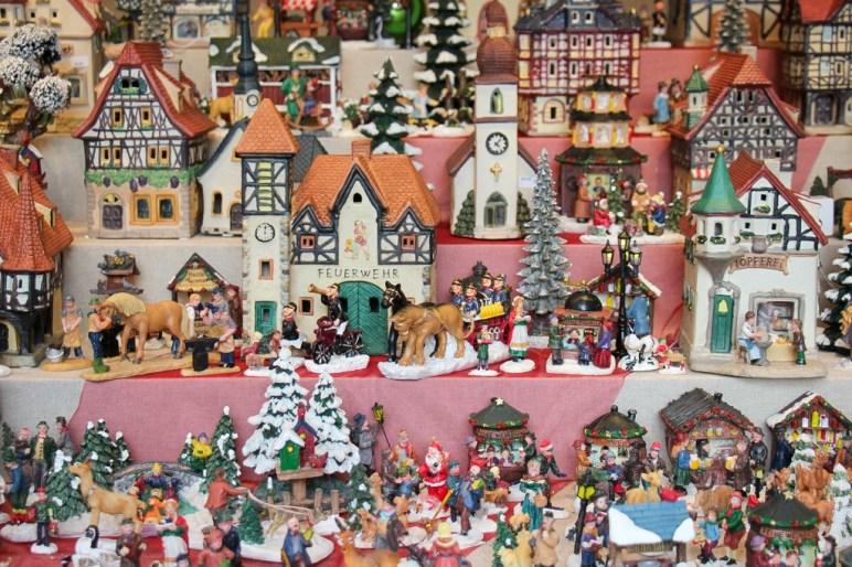 Christmas Market Village, Dusseldorf, Germany