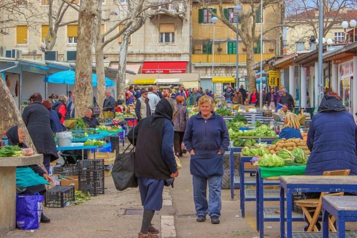 Vendors at Green Market, Split, Croatia