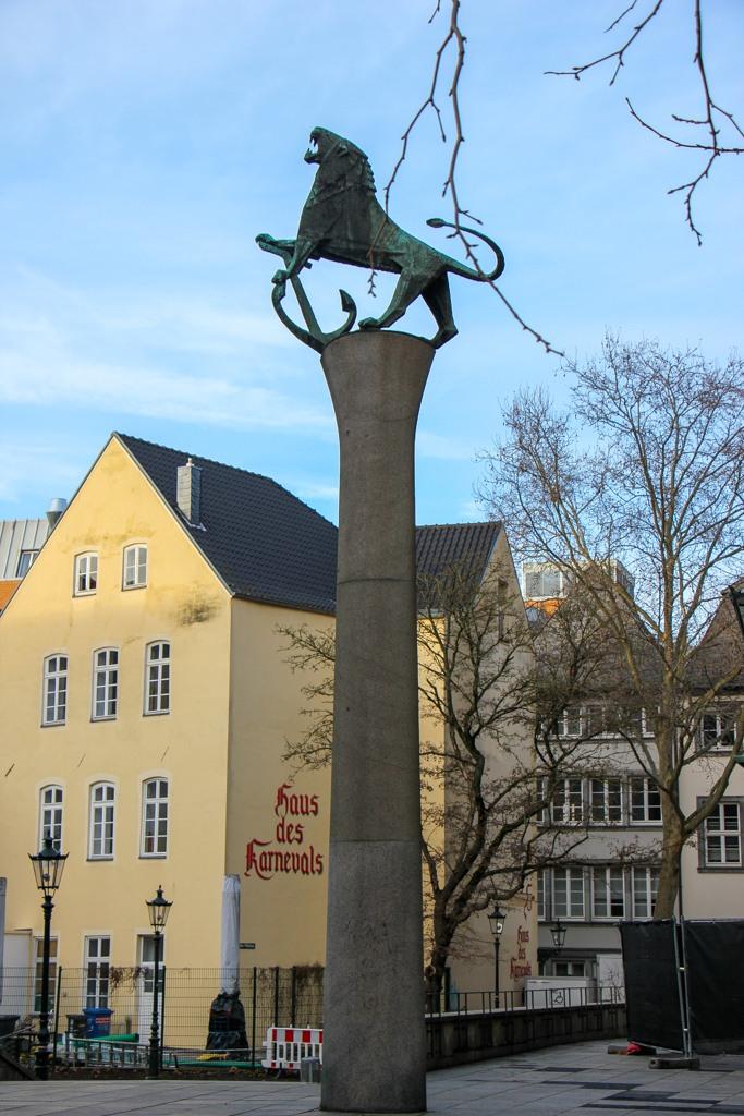 Lion Statue, Dusseldorf, Germany