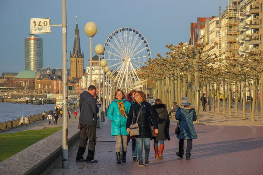 Walking the Rhine River, Dusseldorf, Germany