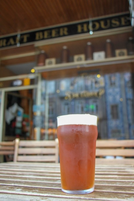 PInt of Craft Beer, Cervejaria do Carmo Craft Beer House Porto, Portugal