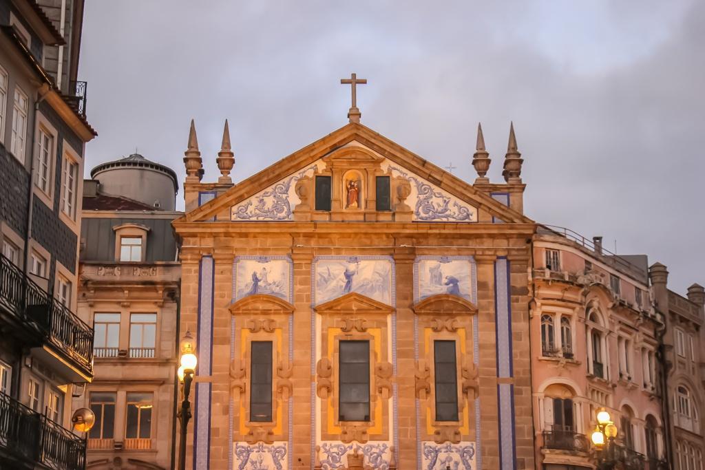 Igreja de Santo Antonio dos Congregados at night, Porto, Portugal