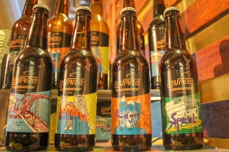 Bottled Craft Beer To Go, Cervejaria Artesanal Levare, Porto, Portugal