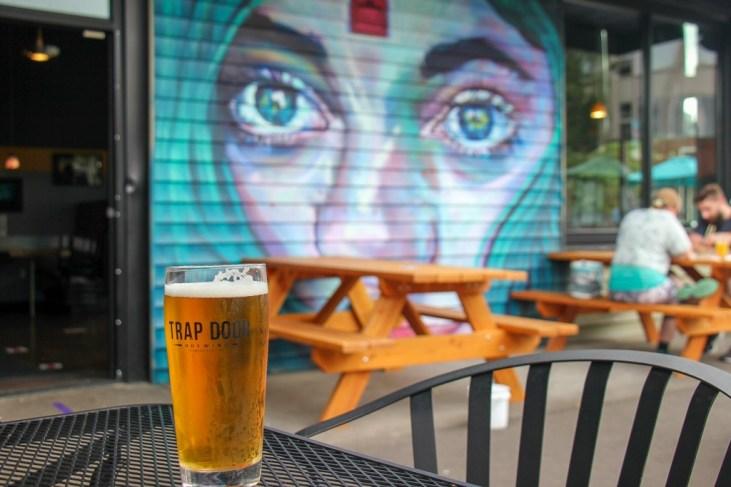 Cool Mural, Great Beer! Trap Door, Vancouver, WA