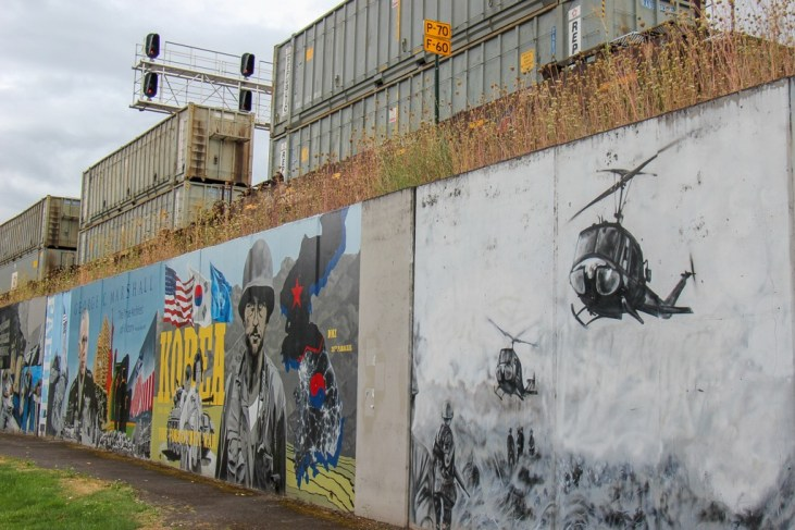 Murals at Veterans Plaza, Vancouver, WA