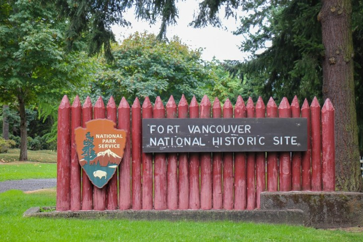 Entrance to Fort Vancouver, WA National Historic Site