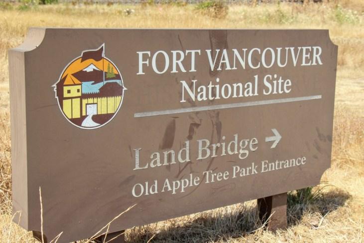 Sign to Land Bridge, Vancouver, WA