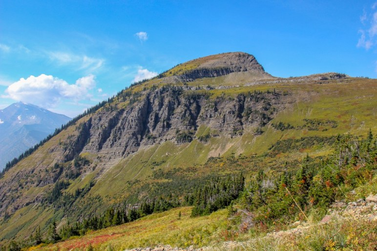 View approaching Haystack Butte, Glacier NP, Montana