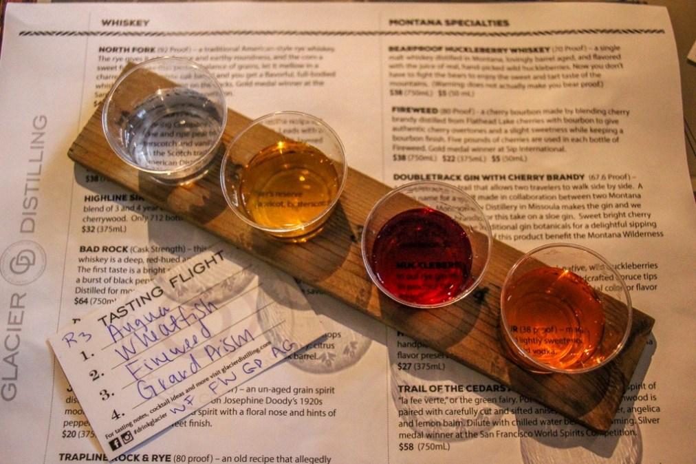 Glacier Distilling Spirit Tasting, Coram, Montana