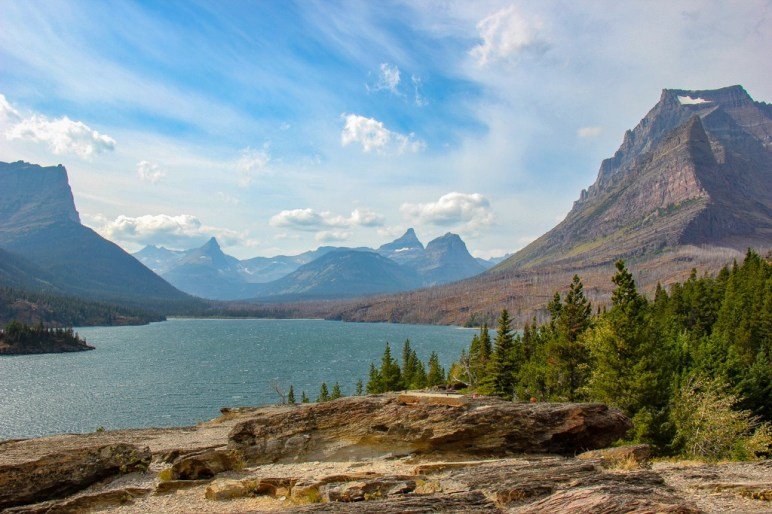 View of St Mary Lake At Sun Point, Glacier National Park, Montana