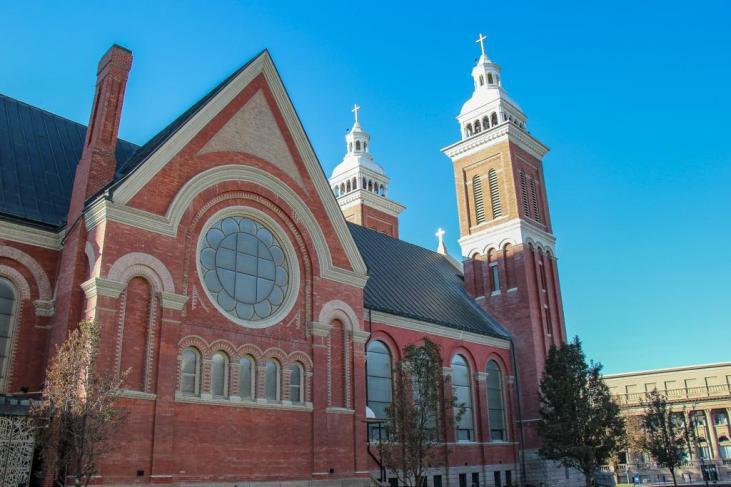Impressive design of the Catholic Cathedral, Spokane, WA