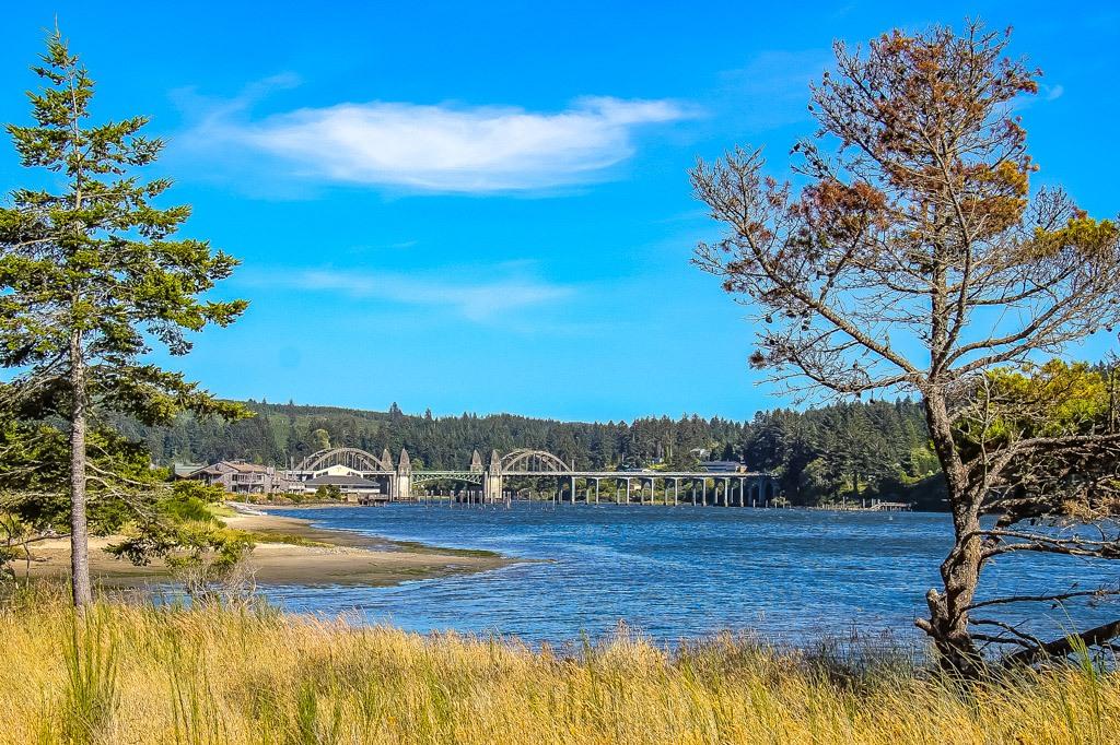 View of the Siuslaw Bridge, Florence, Oregon