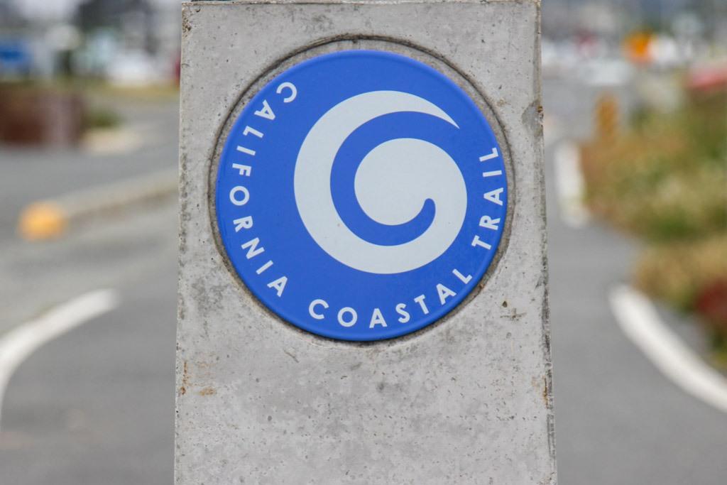 California Coastal Trail Sign in Crescent City