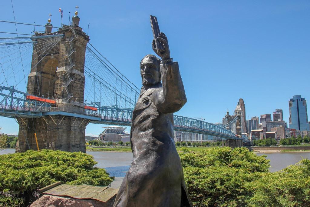 John A Roebling Statue, Covington KY
