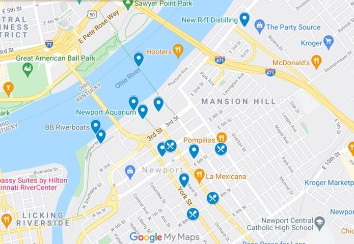 Newport KY Map by JetSettingFools.com