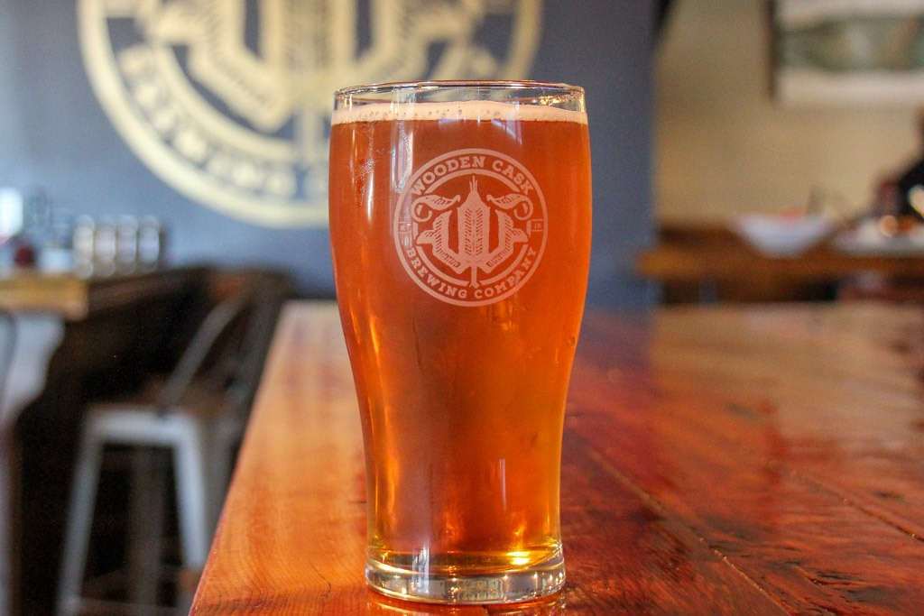 Enjoy at beer at the Wooden Cask Brewing Company, Newport, KY