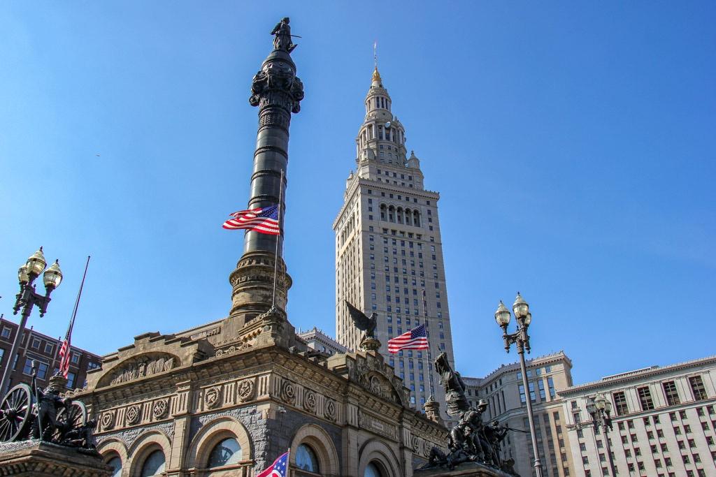 View of Public Square, Cleveland, Ohio