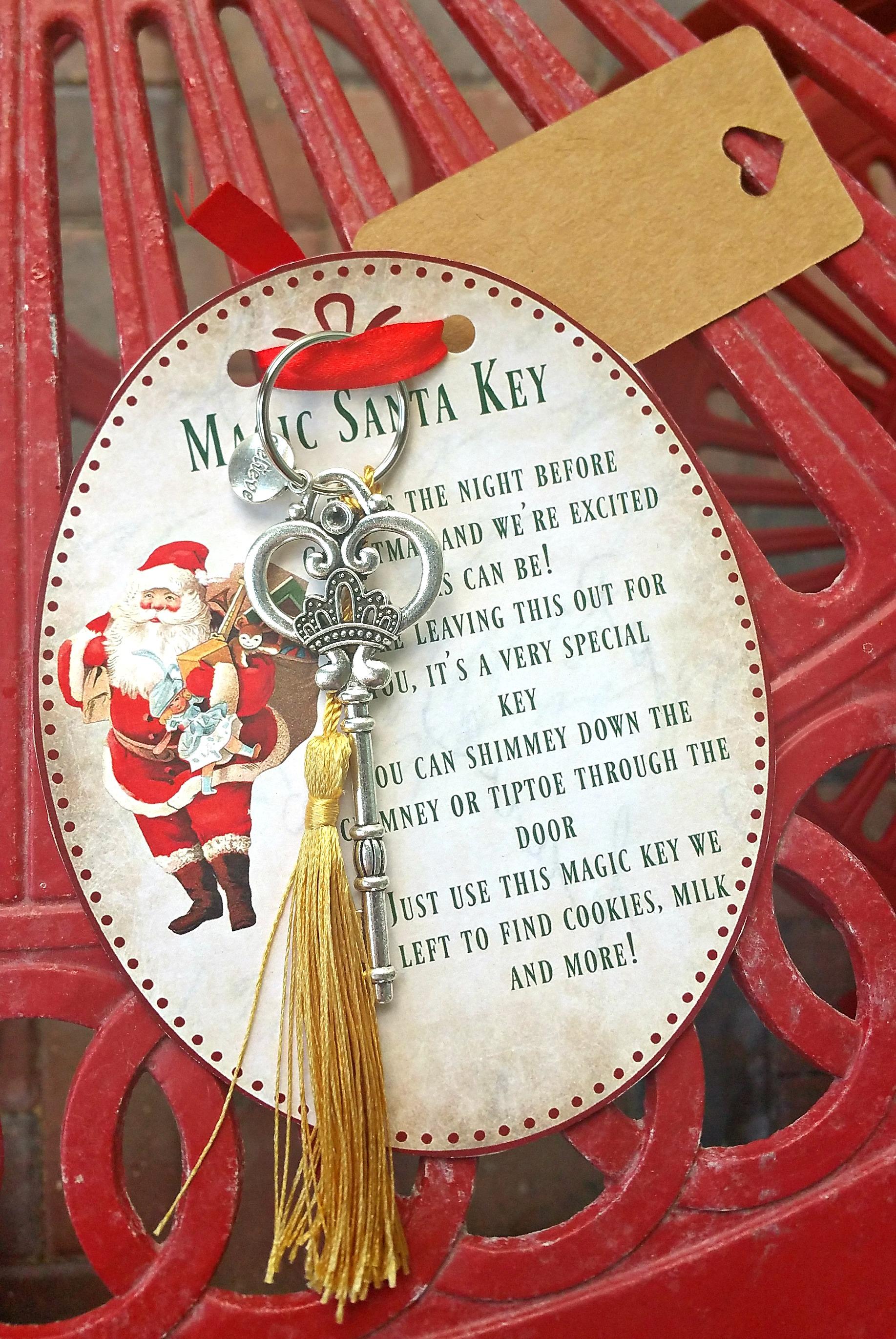 Diy Christmas Crafts Magic Santa Key How To Amp Free Printable