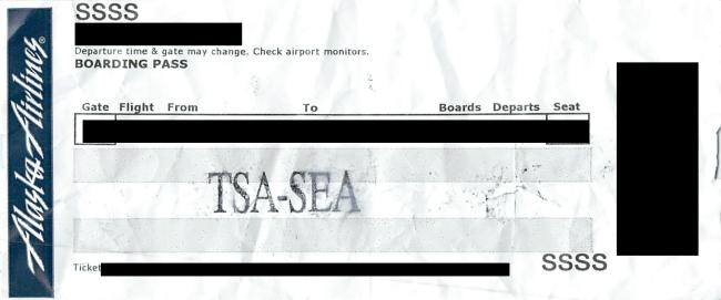 TSA ticket