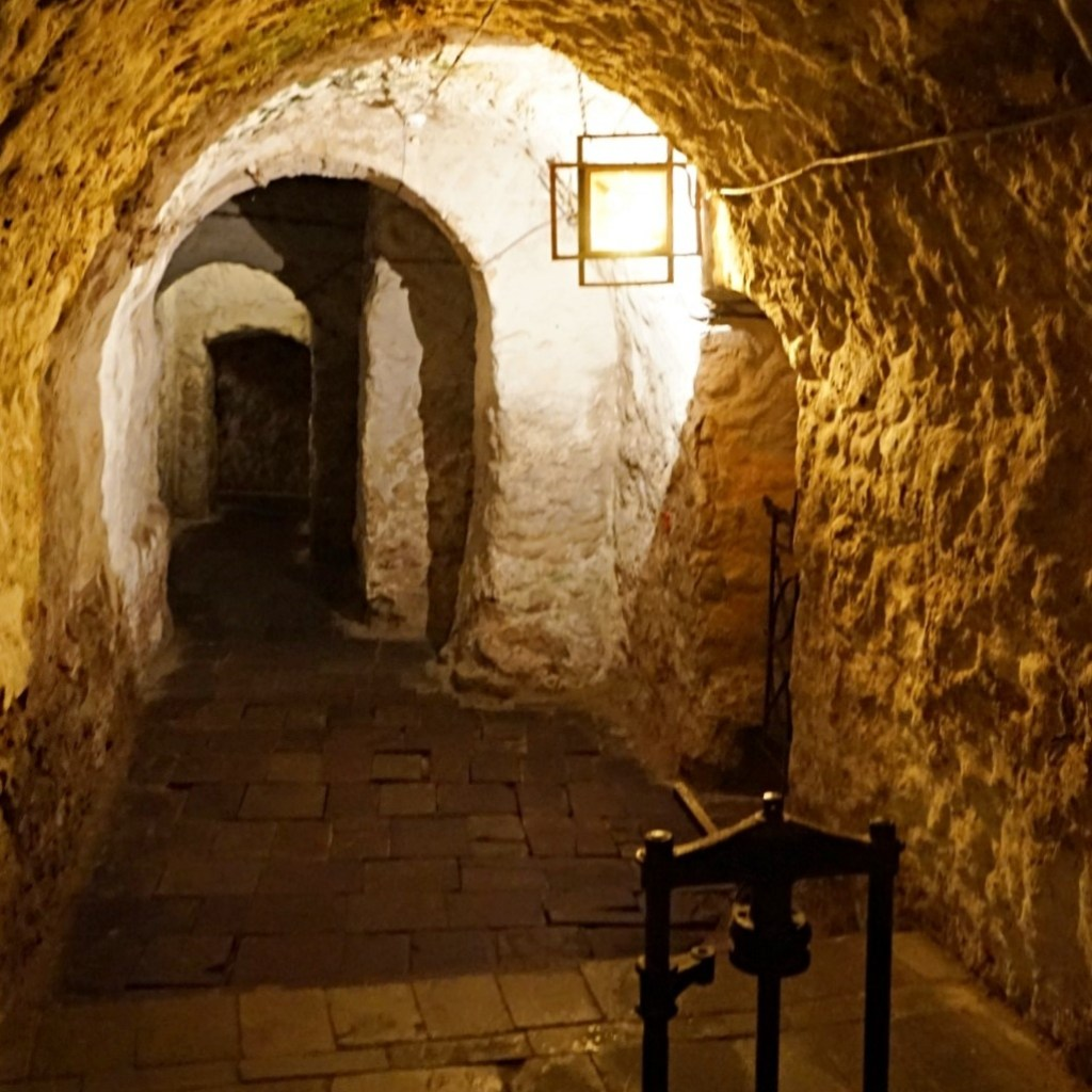One of the exhibition halls in Pharmacy museum in Lviv is a dungeon