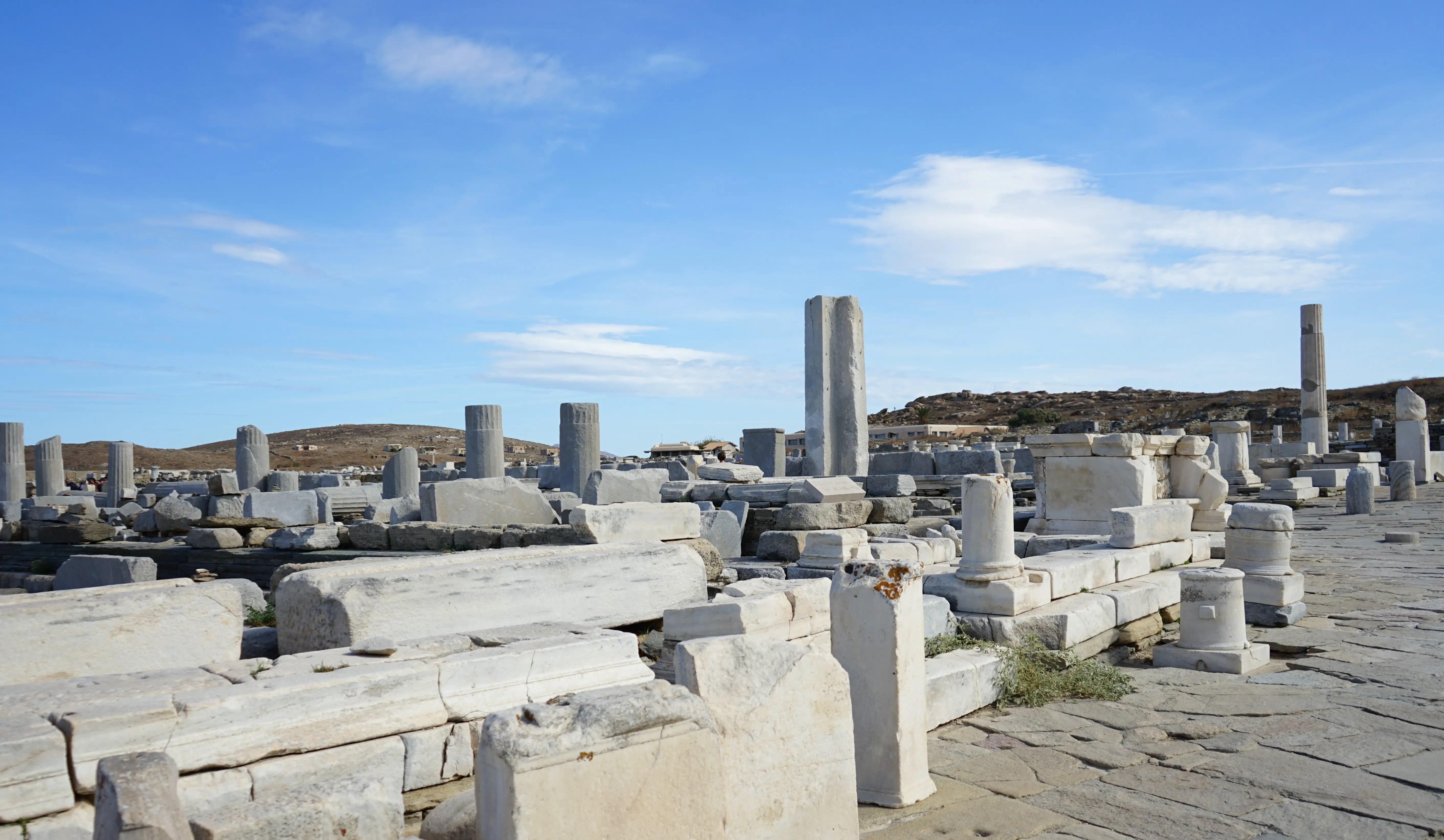Ruins in Delos island