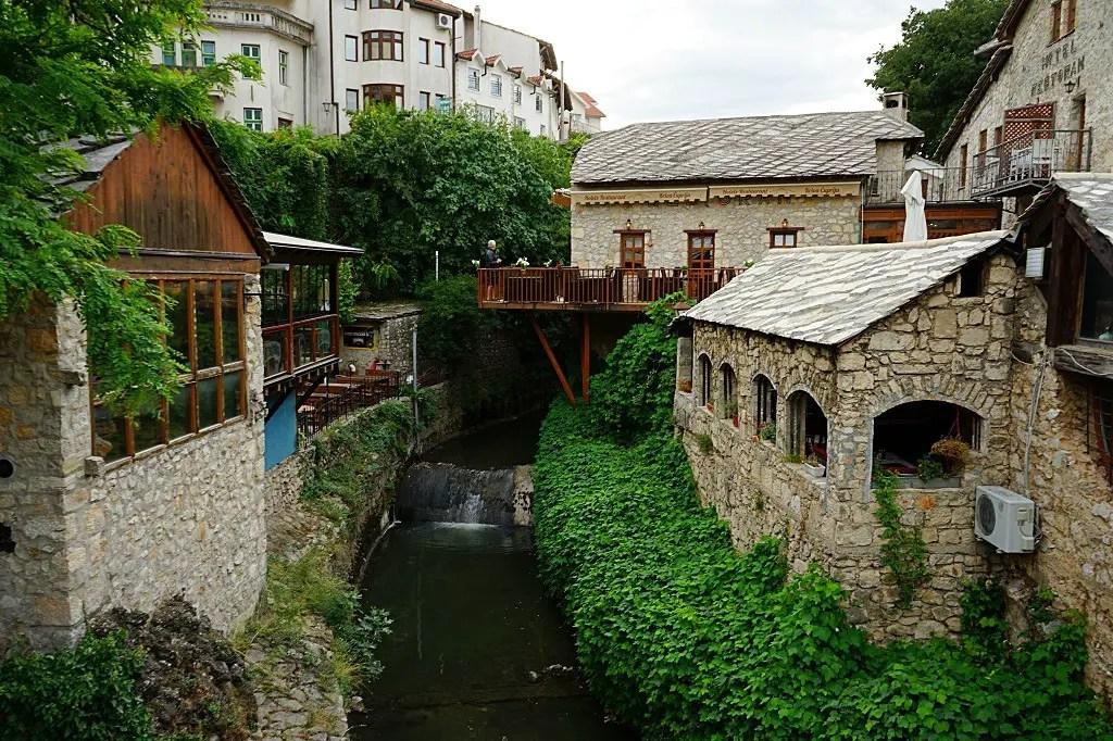 Crooked bridge in Mostar
