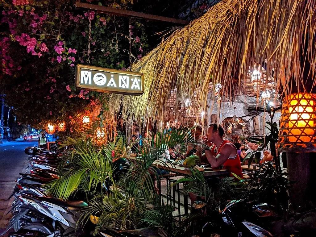 Where to eat in Canggu: Moana