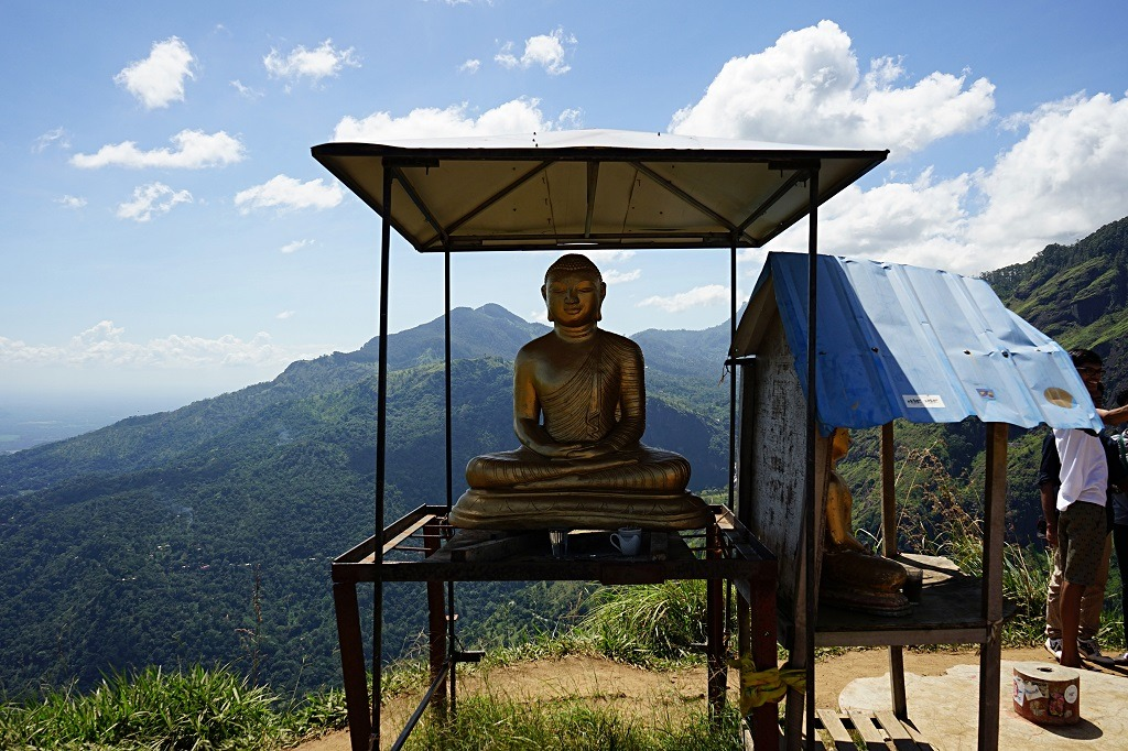 Buddha on the top of Little Adam's peak