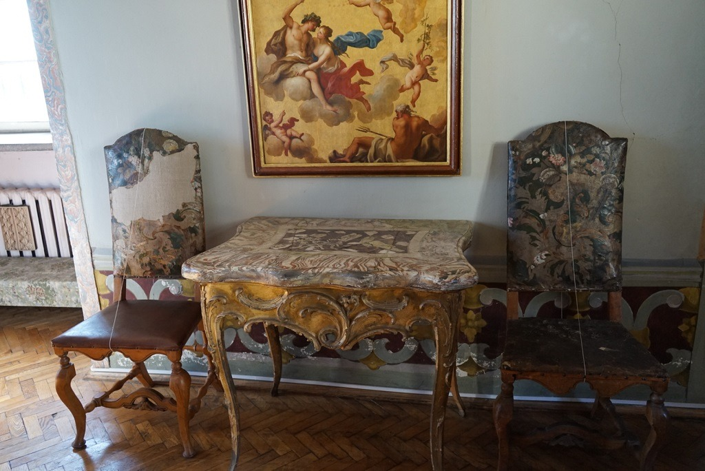 The furniture in  Olesko castle