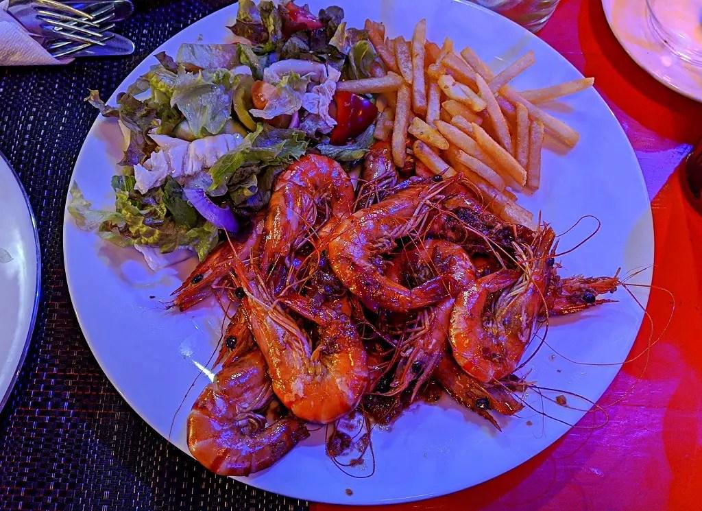Grilled Shrimp at Nautilus restaurant