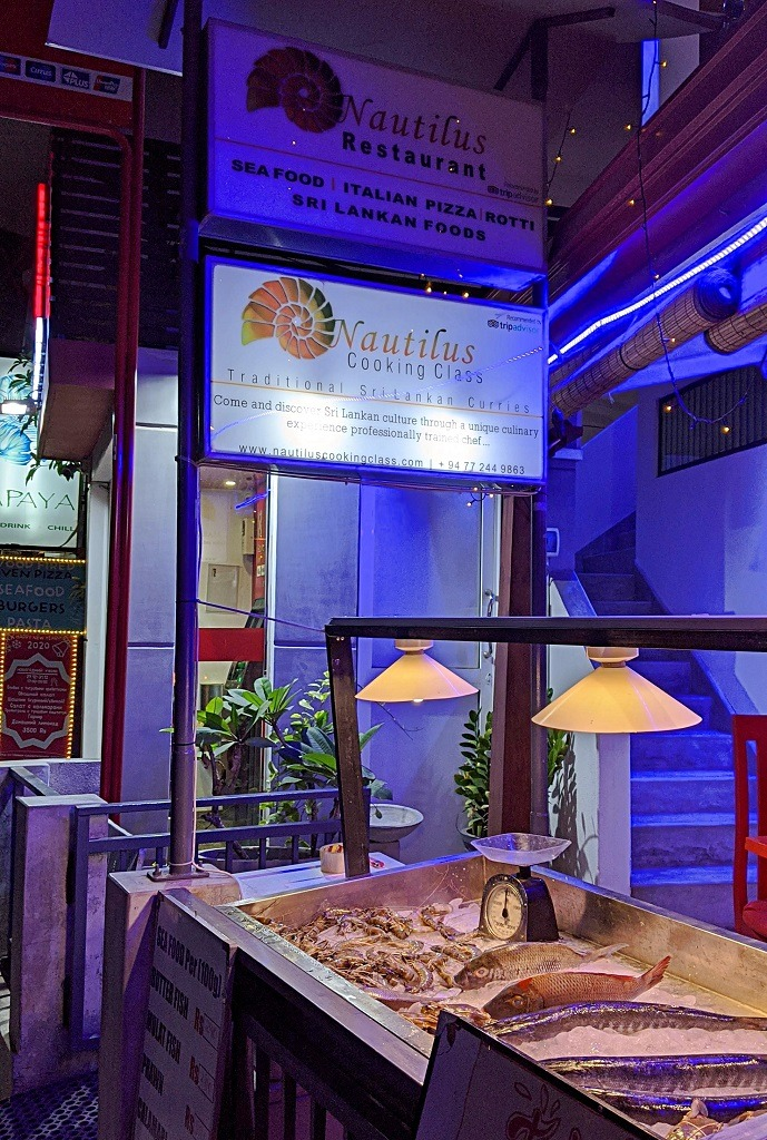 Nautilus restaurant in Unawatuna