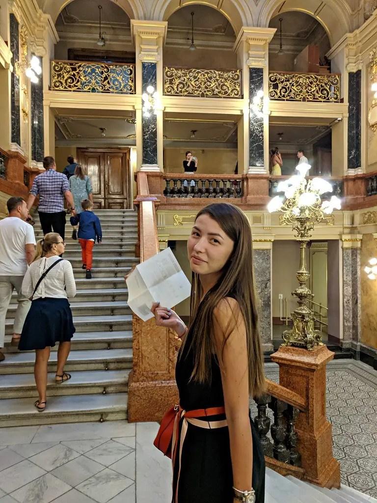 Alona at the opera theater