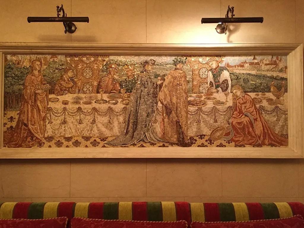 Mezhyhirya Residence: mosaic