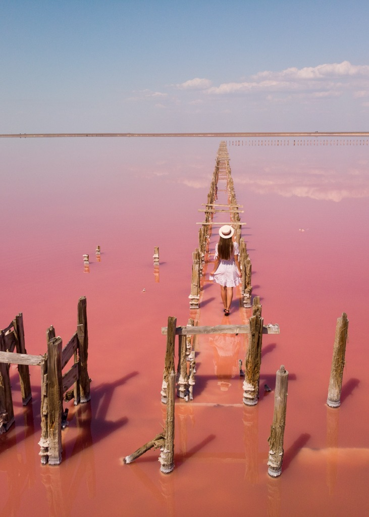 Standing in the Pink Lake, Kherson