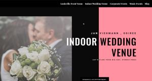 A preview image of a web design for a wedding event venue in Louisville.