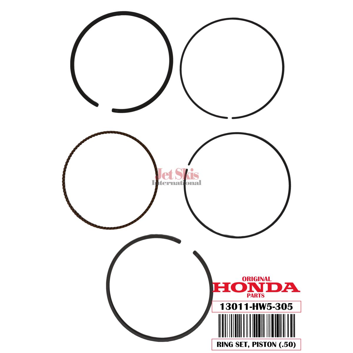 Honda Aquatrax Hw5 305 Ring Set Piston 50