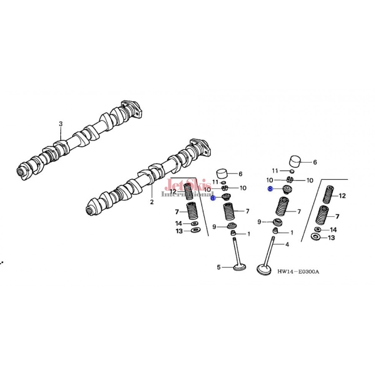 Honda Mat 000 Retainer Valve Spring