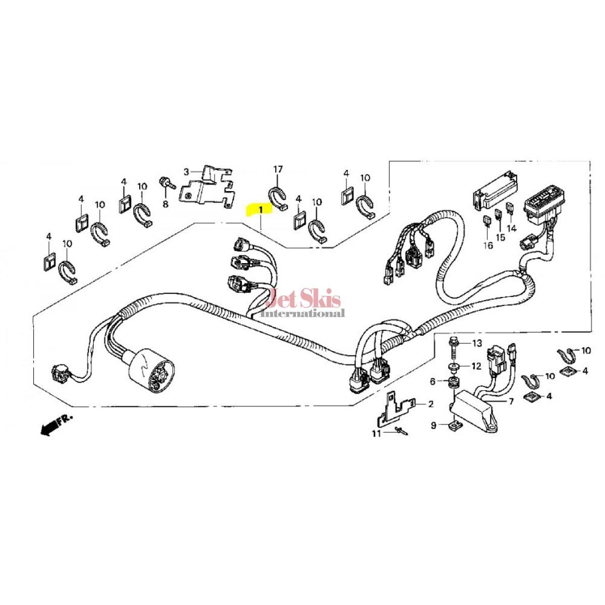 Honda Aquatrax Part Hw3 670 Main Wire Harness