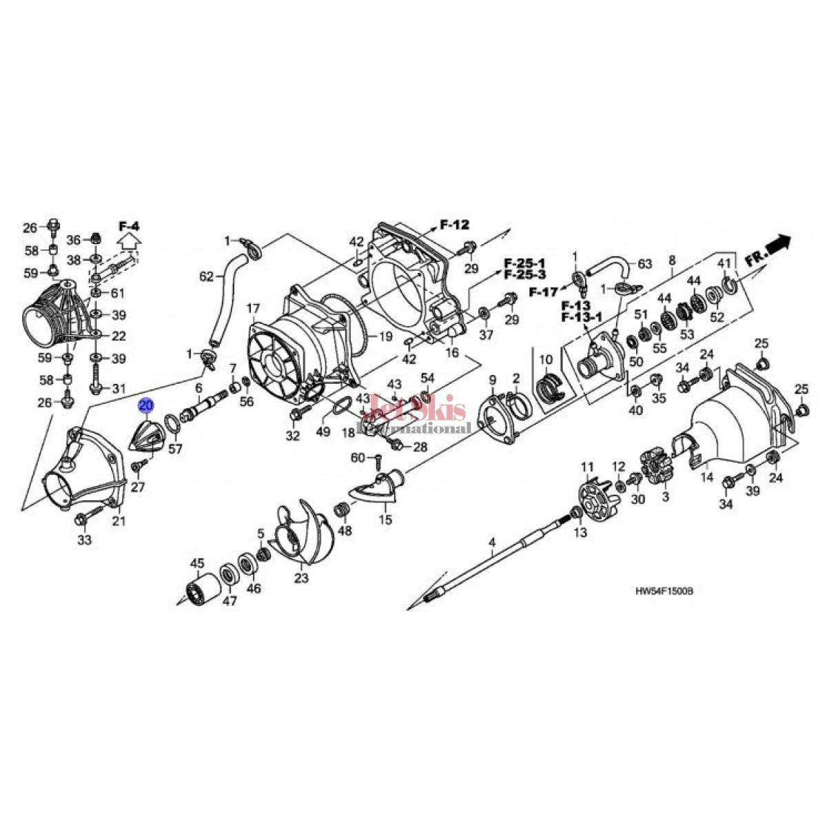 Honda Aquatrax Cap Stator Hw5 900