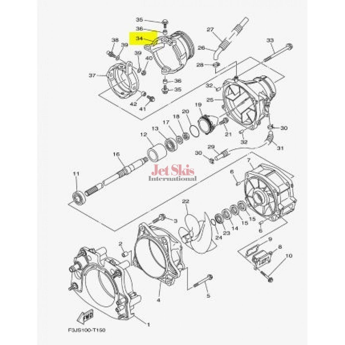 Oem Yamaha Nozzle Deflector 6s5 R 01 00