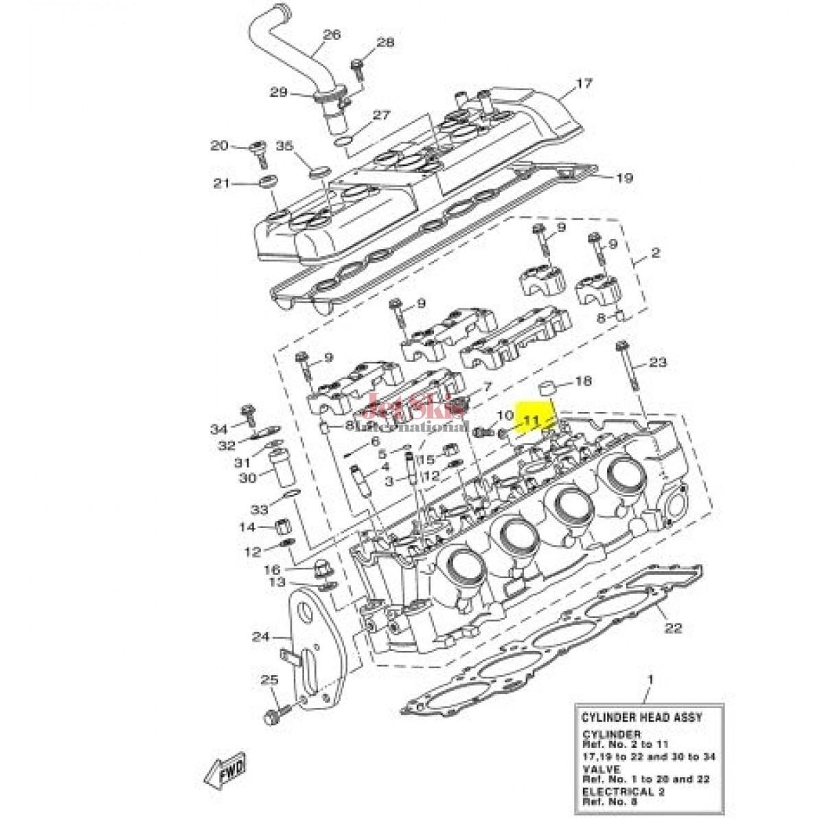 Yamaha 00 Gasket Fx Vx Cruiser Deluxe Sport